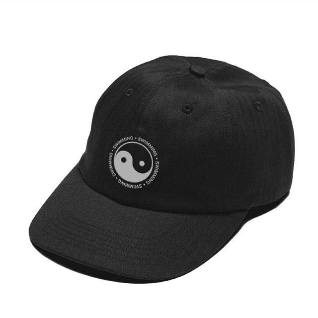 Mac Miller Hat Swimming Yin Yang Design Embroidered 100% Cotton Dad Hat  High Quality Baseball Cap For Men And Women Dropshipping 436a8a9fd18e