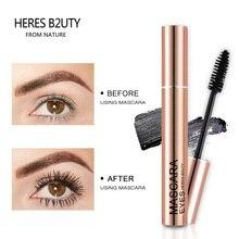 Waterproof Mascara Heres B2uty Cosmetics Long-Lash 3d-Fiber Lengthening Black Thick Brand