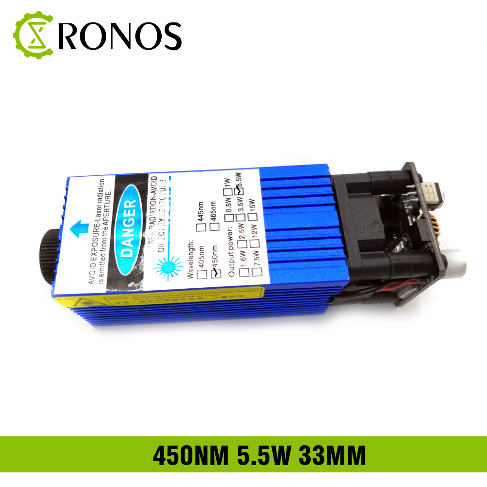 5.5w 450nm 33mm Focusing Blue Laser Module Laser Engraving And Cutting TTL Module 5500mw Laser Can Engrave On Stainless Steel 15w laser module 450nm focusing blue laser module laser engraving and cutting ttl module 15000mw laser tube free glasses