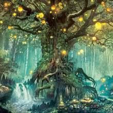 Алмазная Картина Дерево пейзаж квадрат/круглый 5d алмазная вышивка