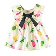Summer Baby Infant Baby Girls Dress Kids Newborn Print Sleeveless Flower Dresses petit lem baby girls newborn summer souvenir flower sleeper