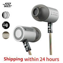 KZ ED4 Metal Stereo Earphone Noise Isolating In-ear Music Earbuds with Microphone for Mobile Phone MP3 MP4(China)