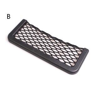 Image 5 - YCCPAUTO 1Pcs Car Organizer Storage Bag Auto Paste Net Pocket Phone Holder Car Accessories 20*8CM 8*15CM Universal