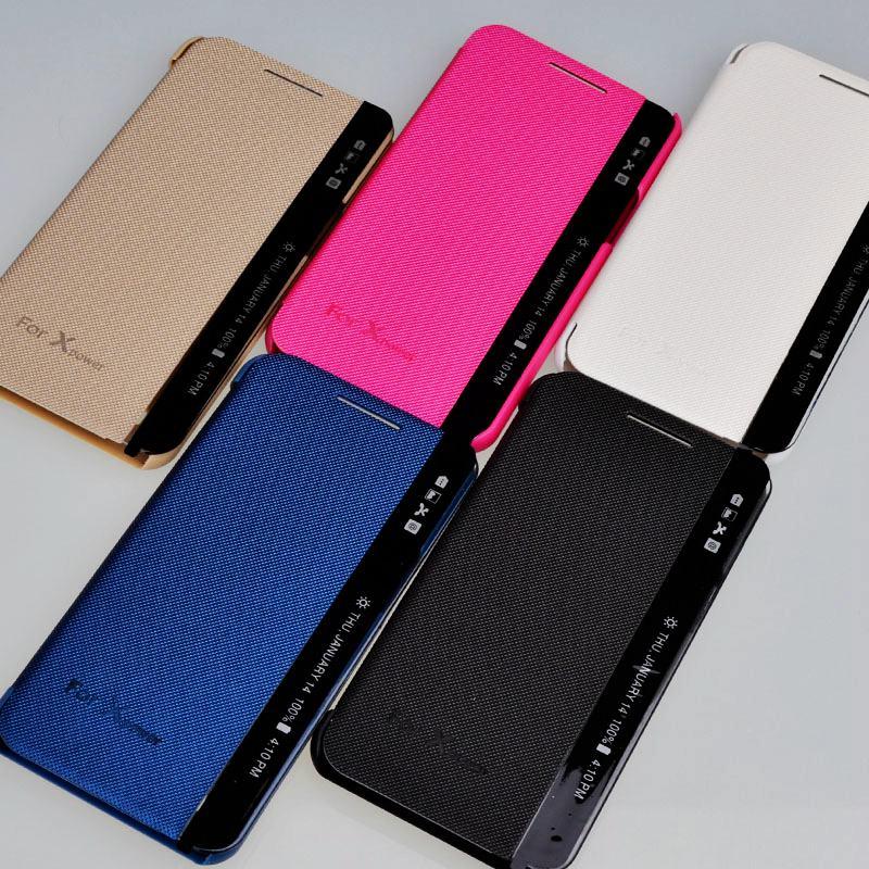 Para LG X power funda de teléfono para LG XPower K220ds cubierta de Respuesta Rápida ventana Flip Smart Cover para Capa LG X Power funda de teléfono lf307