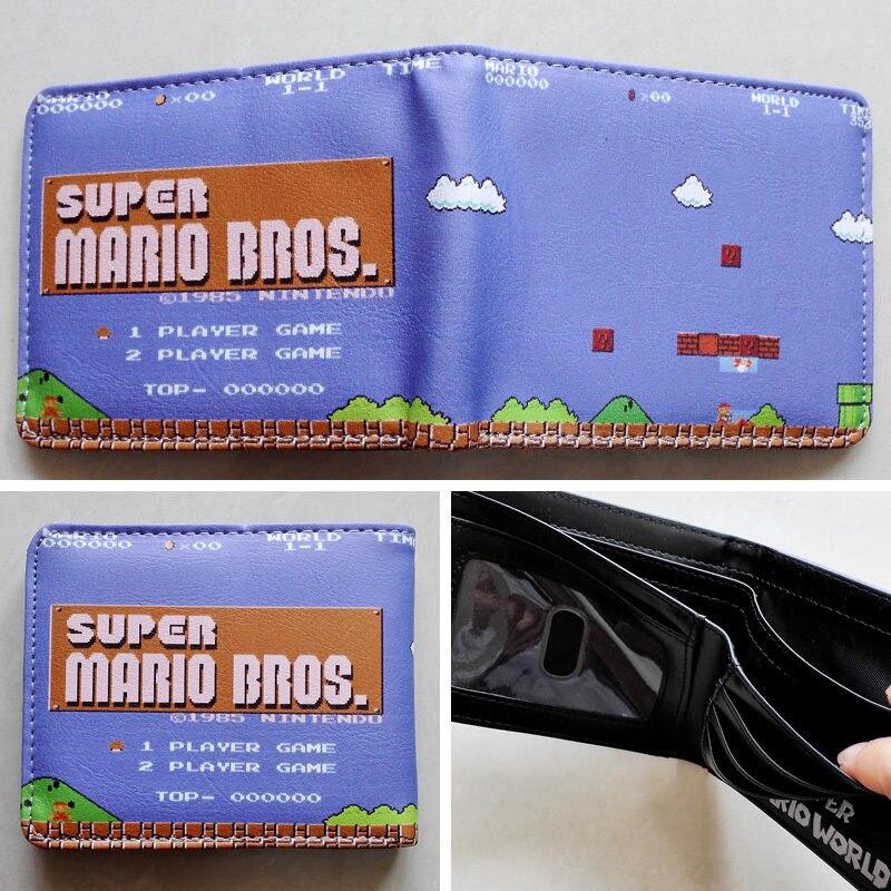 2018 Game Nintendo SUPER MARIO BROS. Logo wallets Purse Multi-Color 12 cm Leather