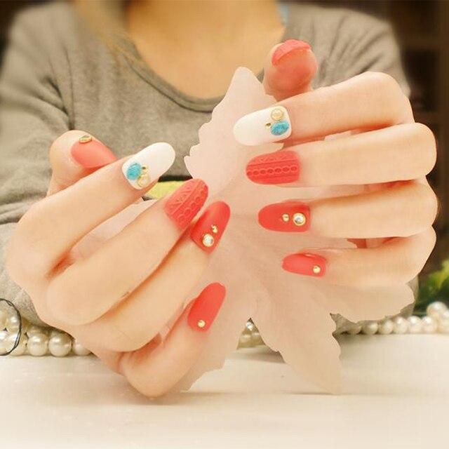 24pcs/Set Wedding Bride Nail Art Design Japan 3D Sweater Rivet Decal ...
