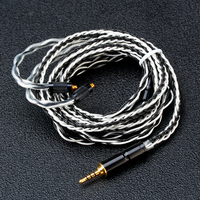 BGVP 2.5/ 3.5/ 4.4mm 2Pin 600 Wire 6N OCC Pure Silver Plating MMCX Earphone Cable 8 Core Balancing Audiophile Mixed Cable