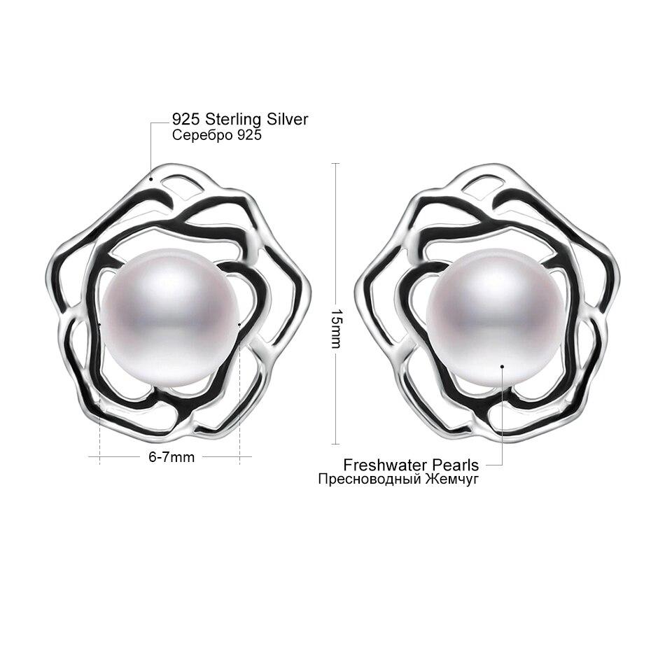 Blume Reine 925 Sterling Silber Ohrringe für Dame Party Schmuck 7-8 - Edlen Schmuck - Foto 5