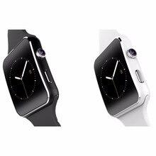 2016ใหม่ดูสมาร์ทบลูทูธX6 S Mart W Atchนาฬิกาสปอร์ตสำหรับแอปเปิ้ลip hone A Ndroidโทรศัพท์กับกล้องFMสนับสนุนซิมการ์ดT30