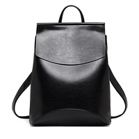 Designer High Quality Leather Backpacks For Teenage Girls Sac A Main Women Vintage Backpack School Mochilas