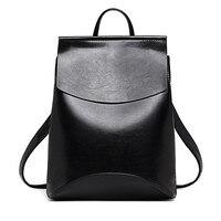 Designer High Quality Leather Backpacks For Teenage Girls Sac A Main Women Vintage Backpack School Mochilas Escolar Shoulder Bag