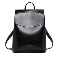 Designer High Quality Leather Backpacks For Teenage Girls Sac A Main Women Vintage Backpack School Mochilas
