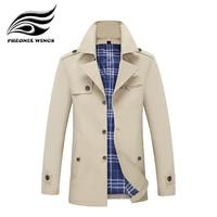 Mens Trench Coat 2018 New Fashion Brand Designer Men Long Jacket Spring Winter Windproof Man Windbreaker Plus Size Drop shipping