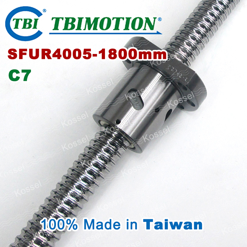 TBI 4005 C7 1800mm ball screw 5mm lead with SFU4005 ballnut of SFU set end machined for high precision CNC diy kit tbi 2510 c3 620mm ball screw 10mm lead with dfu2510 ballnut end machined for cnc diy kit dfu set