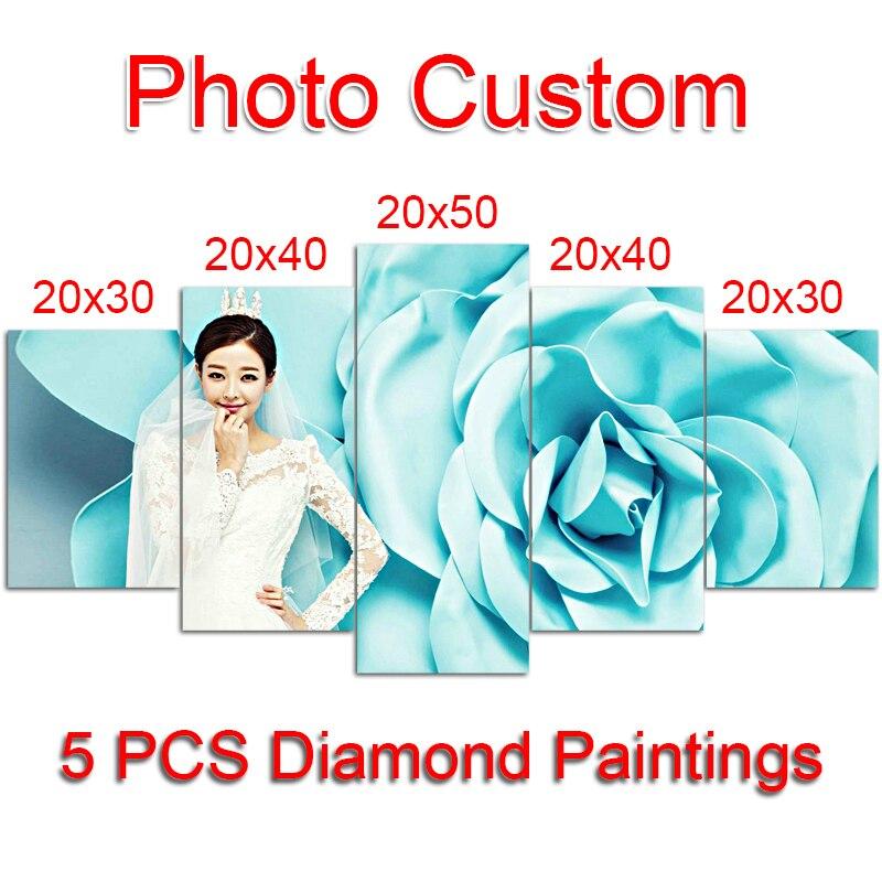 Купить 5 шт. Фото Пользовательские алмазов картина вышивки ...