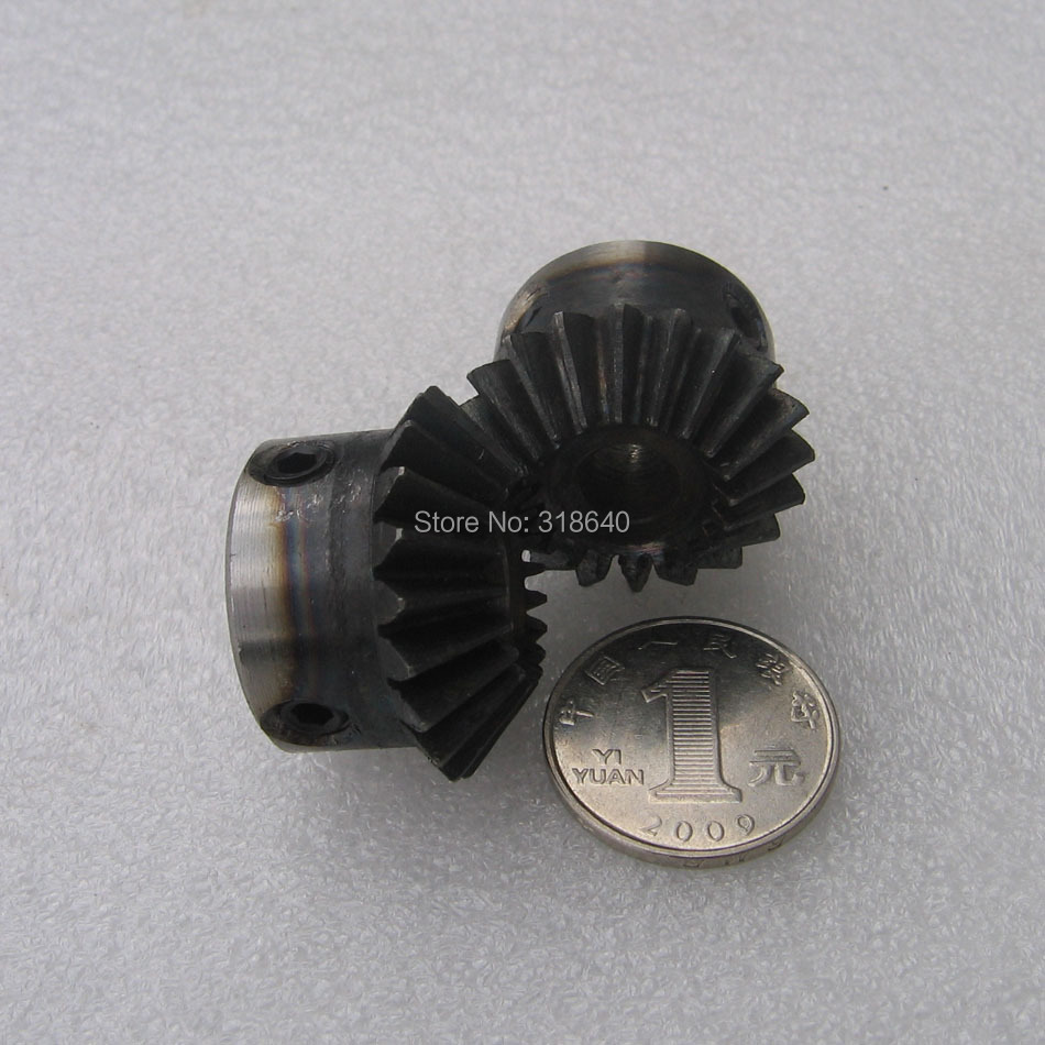 Bevel Gear a pair 1.5M 20T Mod 1.5M Modulus ratio 1:1 Bore 8mm 45# Steel Right Angle Transmission parts tank model machine part bevel gear a pair 20t 1 5 mod m modulus ratio 1 1 bore 8mm 45 steel right angle transmission parts