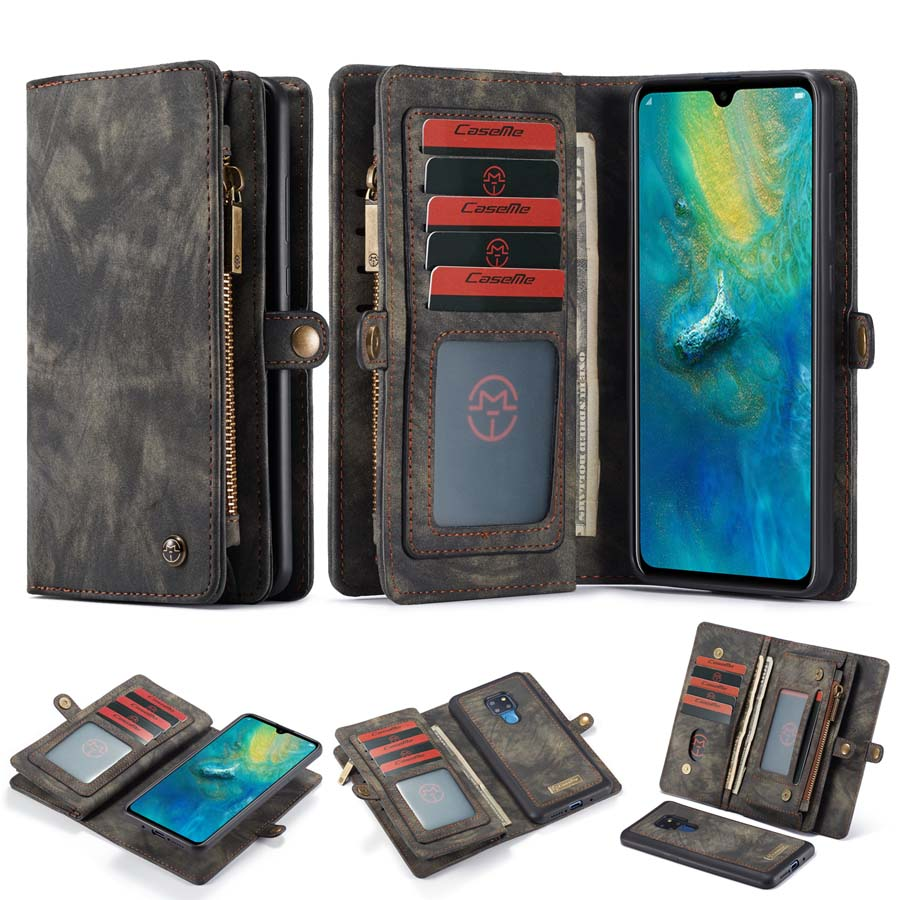 Image 5 - Luxury Genuine Flip Wallet Leather Mobile Phone Back Cove Case for Huawei Mate 20 Pro Mate 20Pro P30 P30 Pro Lite P20 Pro Case-in Wallet Cases from Cellphones & Telecommunications