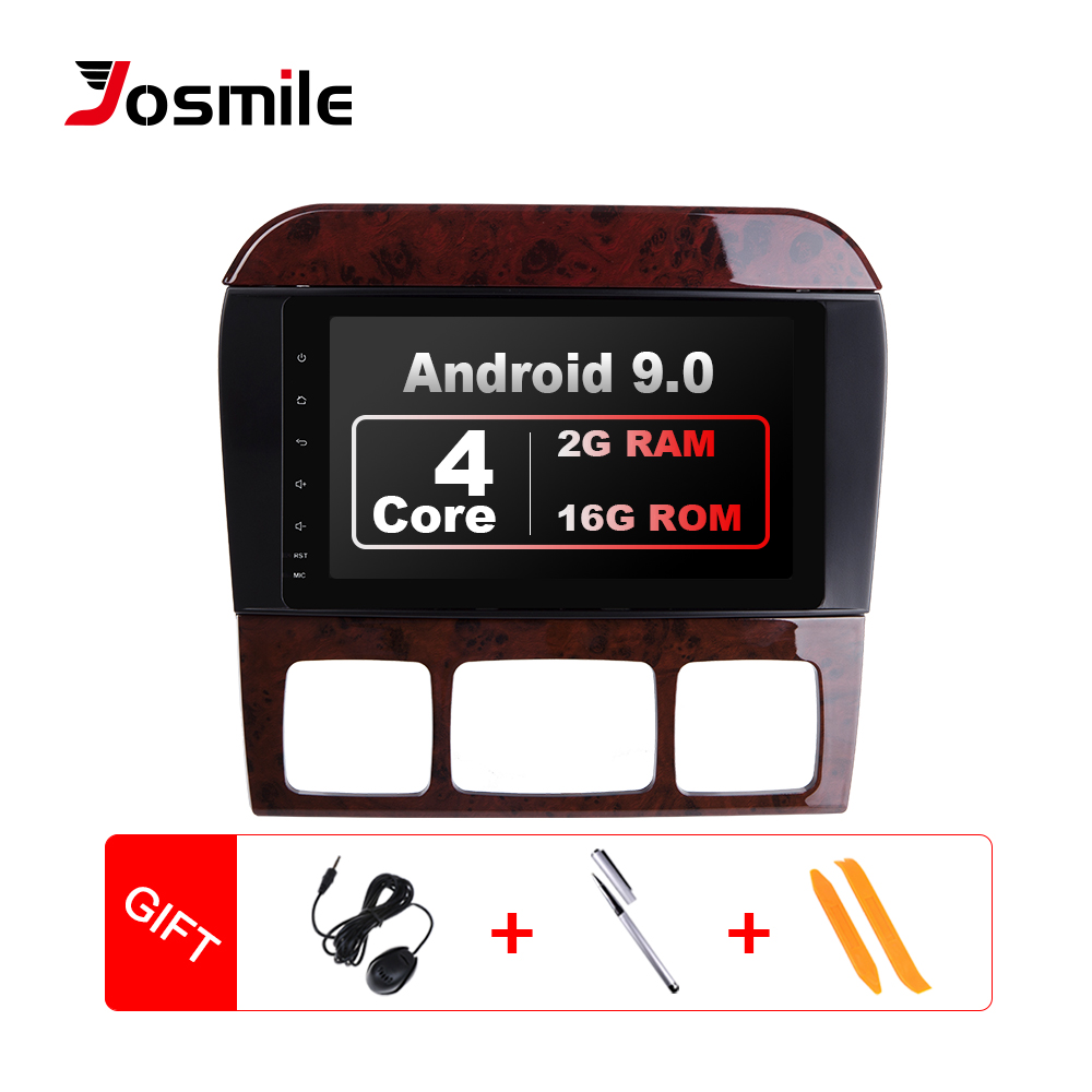 Josmile 2 Din Andorid 9.0 Car Radio Multimedia Player For Mercedes/Benz/W220/W215/S280/S320/S350/S400 S Class GPS 2GB Wifi