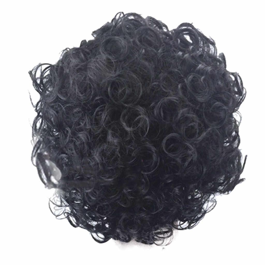 Уход за волосами Аксессуары для укладки накладные волосы парики для черных женщин короткие волнистые вьющиеся натуральные расставания парики Роза сеть 2019 Apr16