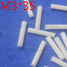 M3*35 35mm 1 pcs white nylon Nylon Hex Female-Female Standoff Spacer Threaded Hexagonal Spacer Standoff Spacer brand new цена