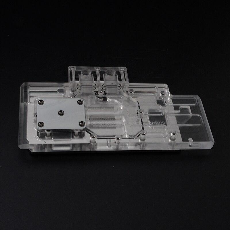 Syscooling augstas kvalitātes GTX970 vga ūdens bloks datoru GPU pilnam pārklājuma blokam