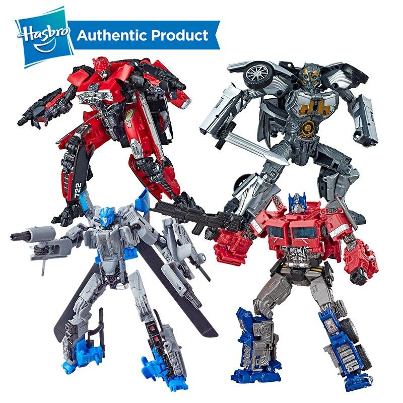 Hasbro transformateurs Studio série Deluxe classe transformateurs bourdon Dropkick Cogman Scrapmetal rouge foudre Optimus Prime