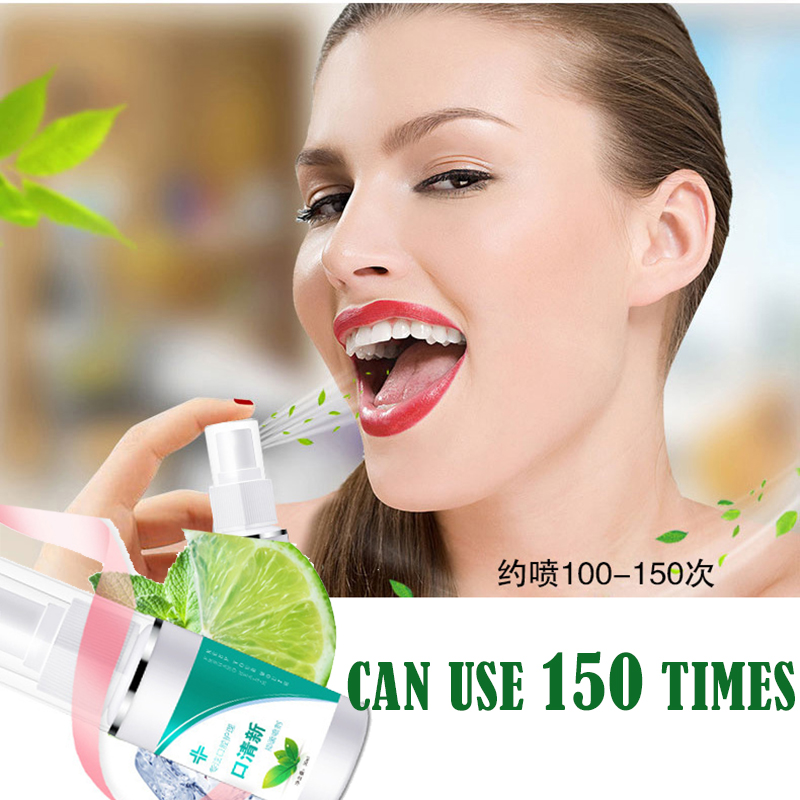 30ML Mouth Breath Spray Oral Odor Cavity Gargle Artifact Herbal Tone Clear Lotion Fragrance Deodorant Antibacterial  Freshener