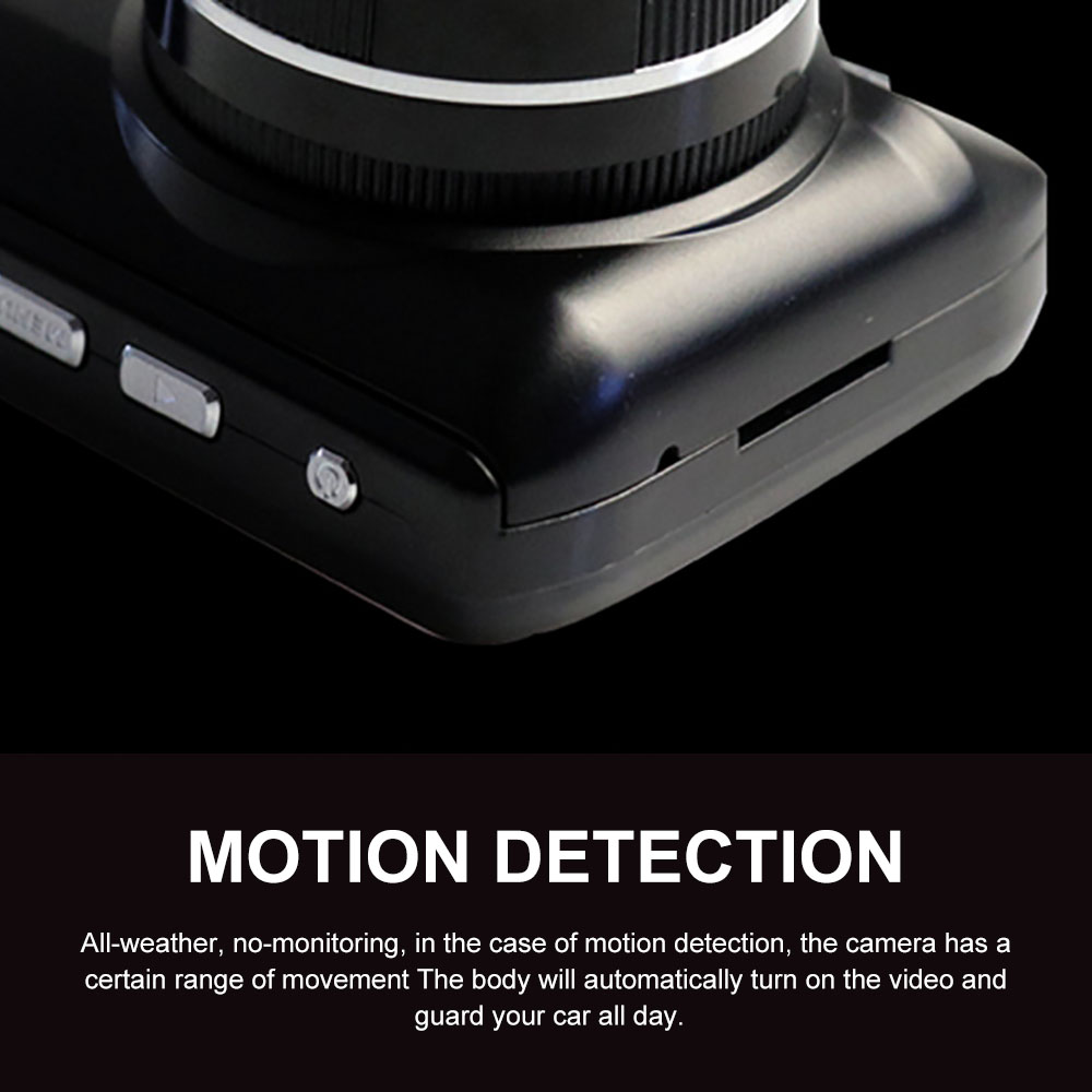 Dash Camera Car DVR 3 Inch G sensor Pixel 360 degree scanning 170 degrees 1080 Double Cameras Reversing Images Driving record in DVR Dash Camera from Automobiles Motorcycles