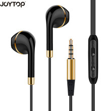 JOYTOP In-Ear Earphone For iPhone 6 5 Xiaomi Hands free Headset Bass Earbuds Stereo Headphone For Apple Earpod Samsung earpiece
