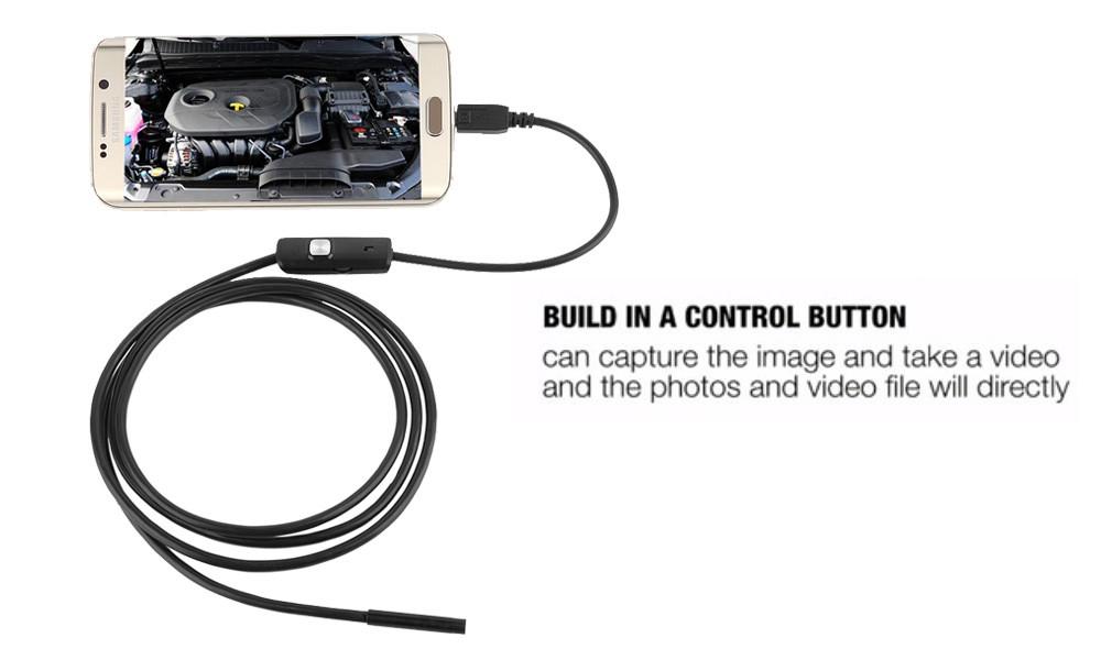 High Quality 5.5mm Len 5M Android OTG USB Endoscope Camera