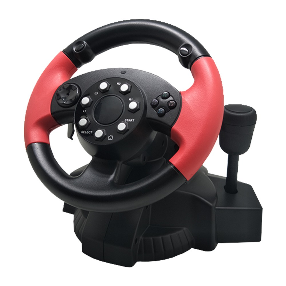 Car For PS3/PS4 PC Racing Game Steering Wheel Simulator 200Degree Rotation Console Gamepad Dual Motor For D-INPUT/X-INPUT/Steam image