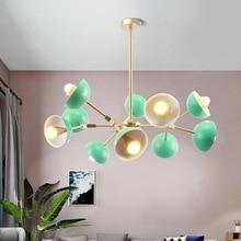 Modern Green LED chandelier lighting Nordic Simple Iron hanging lamp for living room restaurant bedroom loft home fixtures цена в Москве и Питере