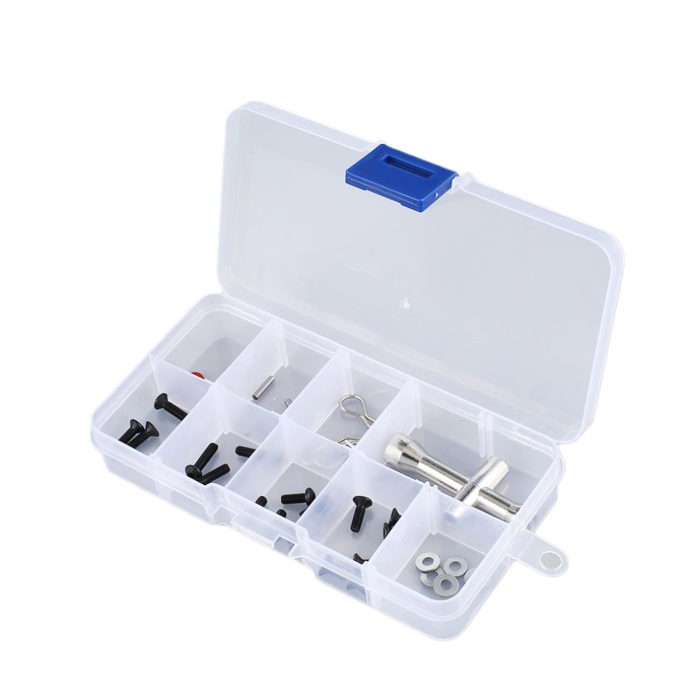 10-36 Compartment Slots Cells Portable Tool Box Electronic Parts Screw Beads Ring Jewelry Plastic Storage Box Container Holder