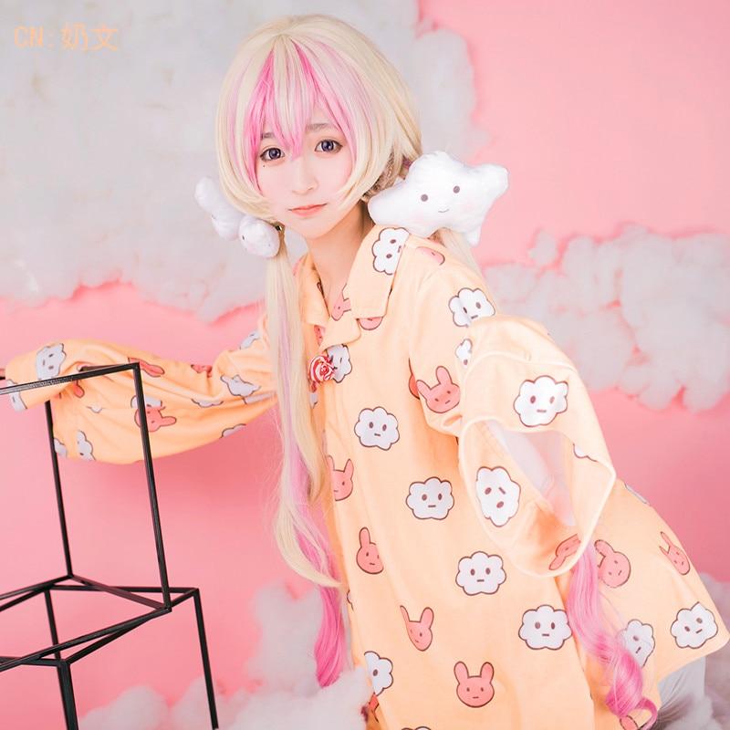 Anime Magical Girl Raising Project Cosplay Costumes Nemurin Women Pajamas Sleepwear Coat Nightdress Nightgown Dress Clothing