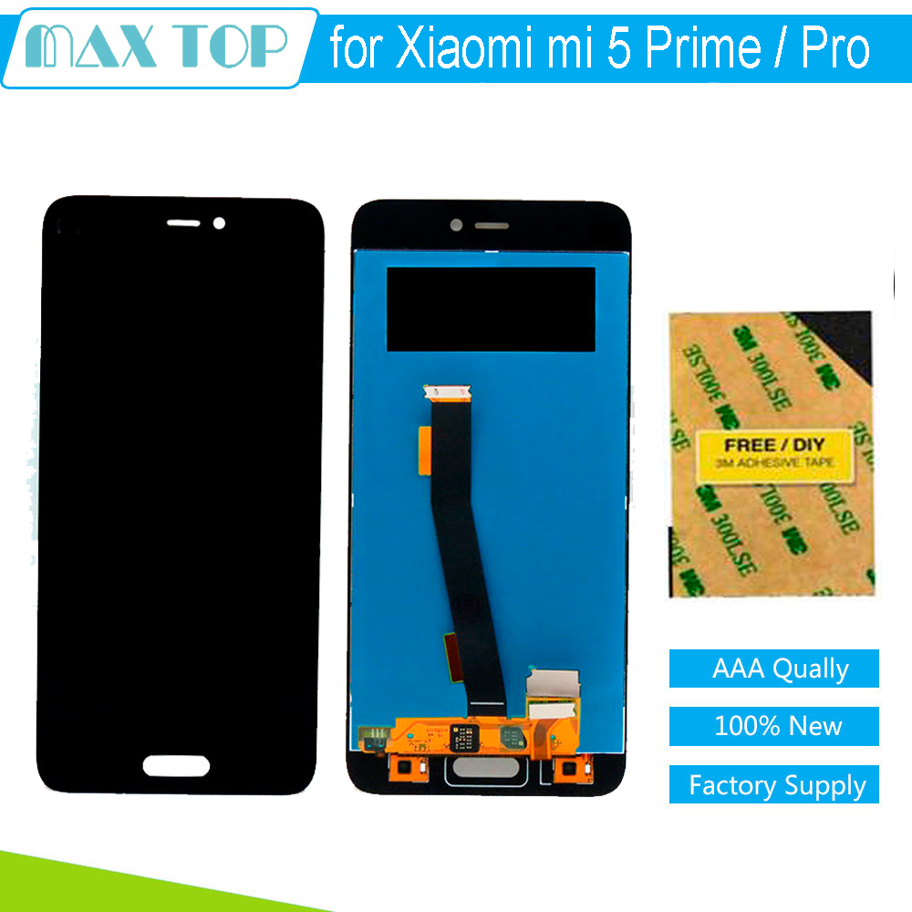 ФОТО 100% Tested 5.15 inch For Xiaomi mi5 Prime / mi5 Pro LCD Display with Touch Screen Digitzer Full Assembly Replacement Parts