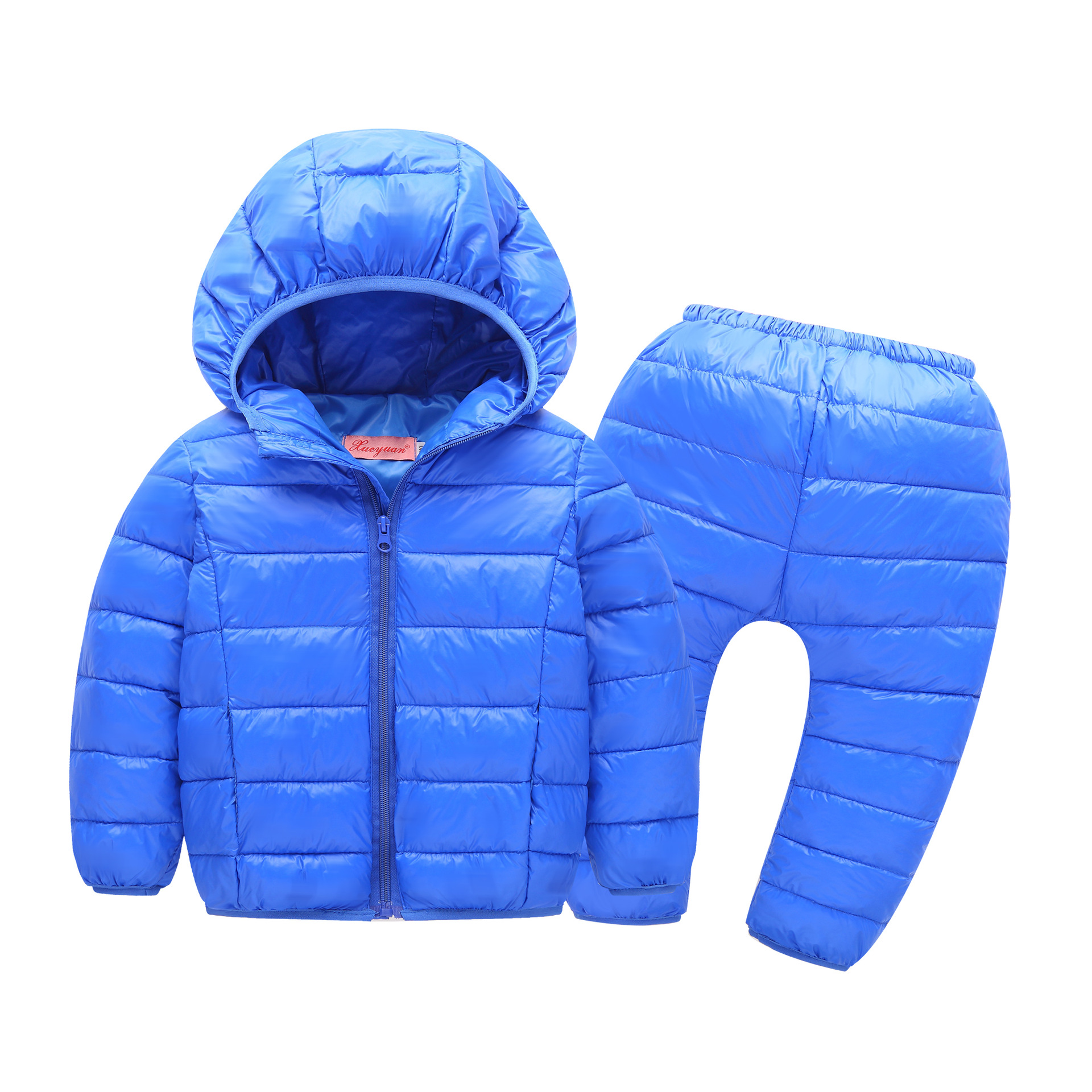 New Girls Cotton-Padded Coat Suit Children Warm Winter Set Sport Baby Girl Jackets/coat+trousers 2pcs Set for Winter Infant Coat girl jackets coat for winter baby girl down