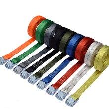 Партия из 2 предметов 25 мм 250 кг x 15 м стяжная Пряжка галстук вниз грузовой стяжной ремень
