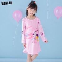 Top Qualität Cartoon Maus Baby Mädchen Nachthemden Langarm Kinder Nachtwäsche Pyjamas Mädchen Nachthemd Kleid Baumwolle Weich Nachthemd