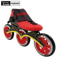 PASENDI Professional Speed Skates 125MM Patines Adults Roller Skating Shoes Kids Inline Skate Boots Women Men Beginner Wheels