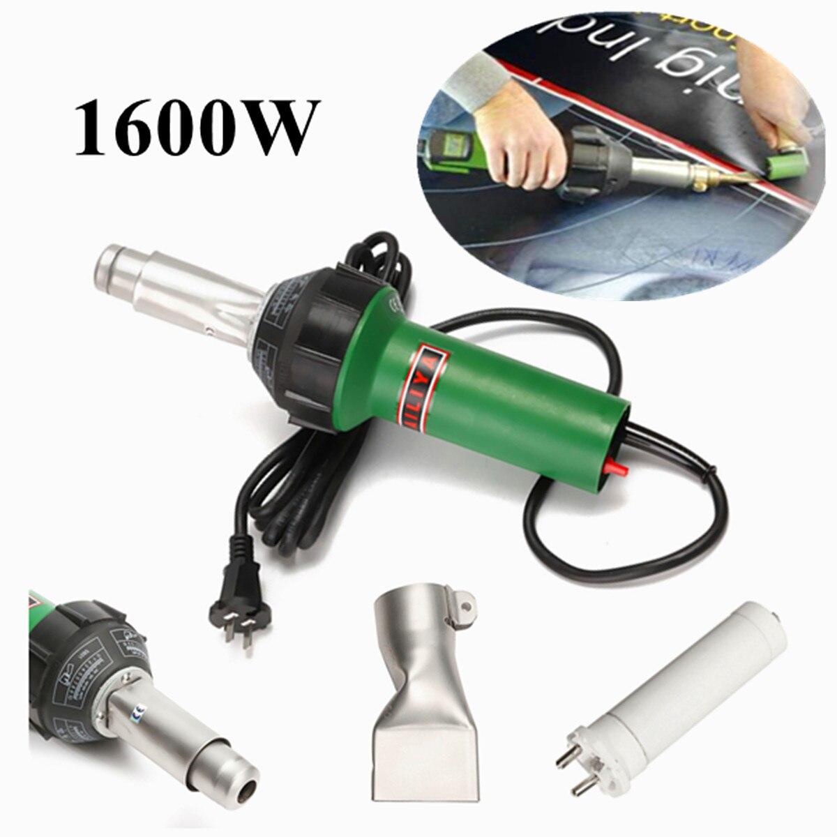 1600 W AC 220 V 50/60Hz Air Chaud Torche En Plastique De Soudage-Gun Pour Soudeur + Plat nez En Gros Prix de Haute Qualité