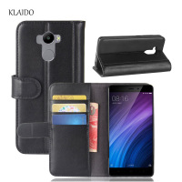 KLAIDO Genuine Leather Mobile Phone Case For Xiaomi Redmi 4 Case Original From KLAIDO Luxury Flip