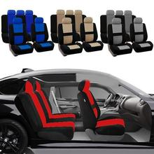 2Pcs Full Set Universal Fit Auto Car Seat Cover Breathable Interior Split Bench Covers Interior Seat Cover Car Seats Accessories 4pcs car seat covers universal most brand vehicle seats car seat protector interior accessories seat cover