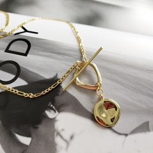 LouLeur 925 סטרלינג כסף סדיר אבזם תליון שרשרת זהב תעשייתי רוח creative לתכשיטי נשים מתנה