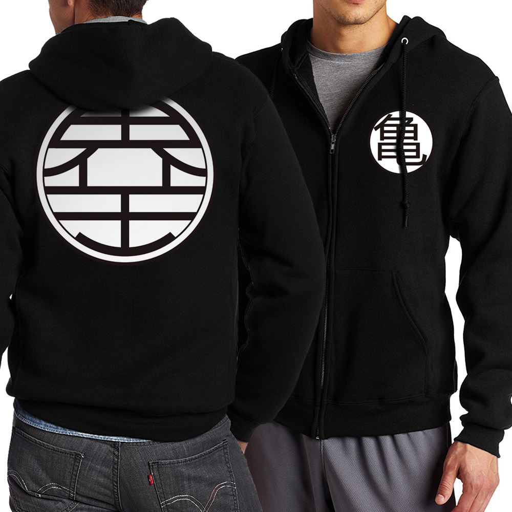 2019 Nwe Arrival Hot Selling Zipper Hoodie Fleece Pullover Dragon Ball Z Casual Anime Streetwear Monkey King Printing Man Hooded