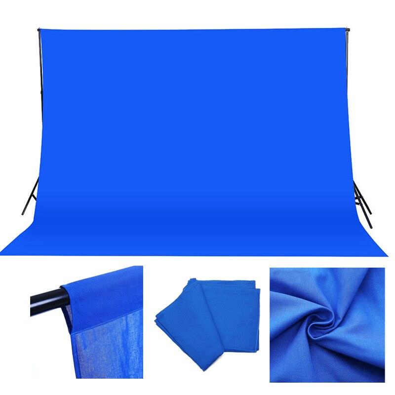 3*3 m Coton Muslin photo Fond Photographie Décors studio Bleu Écran Chroma key Fond Fotografia Tir Toile de Fond