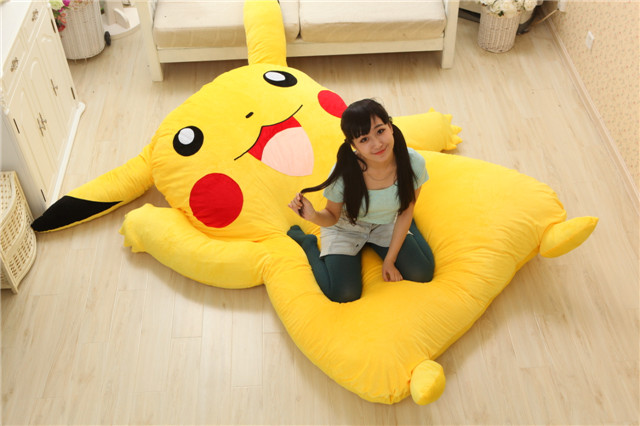 Image 5 - Lovely Pikachu Mattress Totoro Lazy Sofa Cushion Mat Soft Cartoon Bed Child Tatami Cute Toys For Kid-in Mattresses from Furniture