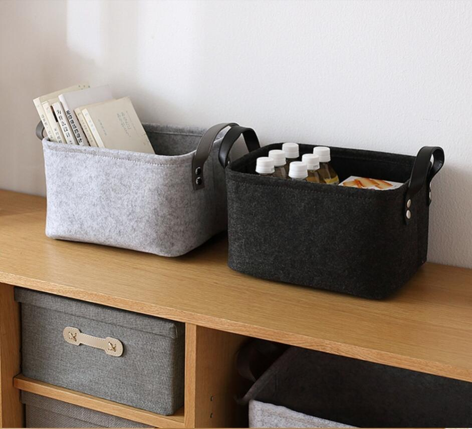 Felt Cloth Storage Basket For Baby Toys Laundry Basket Flodable Washing Clothes Storage Box Home Sundries Organizer title=
