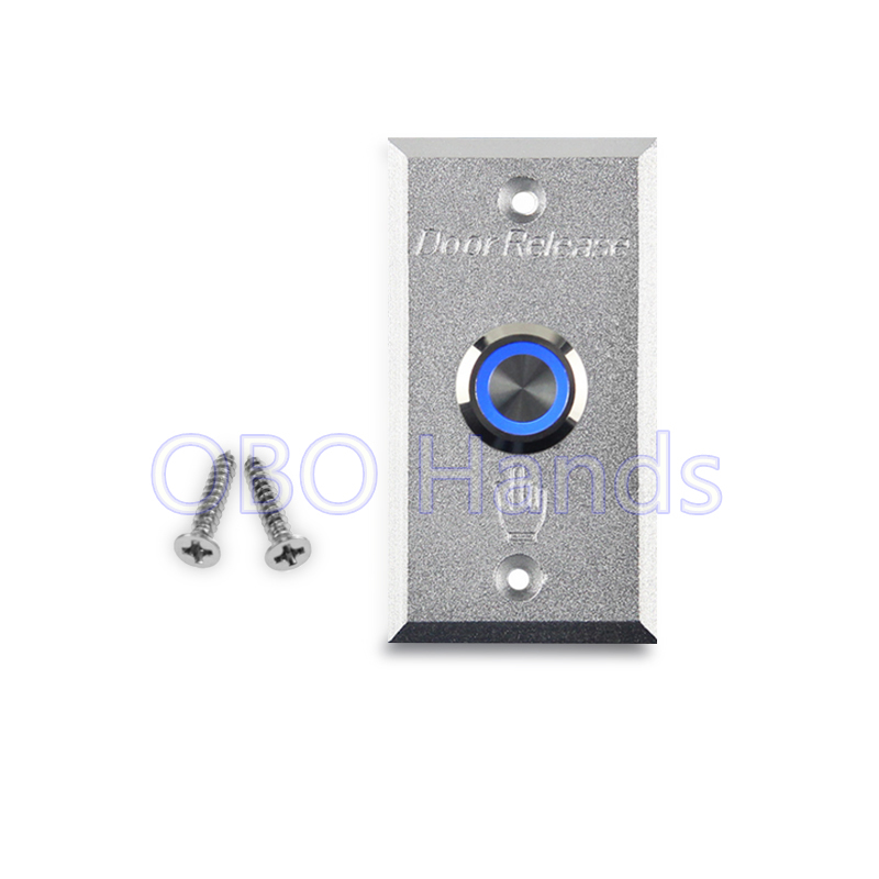 Free shipping high quality aluminum alloy door exit button release switch with blue backlight LED for access control system-LMG2 free shipping door stopper door holders for sale high suction