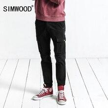 Simwood Брюки карго Для мужчин осень 2017 г. Новые Карманы армия тактический Брюки Для мужчин Винтаж повседневные штаны Slim Fit плюс Размеры XC017041