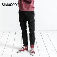 SIMWOOD Cargo Pants Men 2017 Autumn New Pockets Army Tactical Pants Men Vintage Casual Trousers Slim